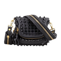 TOM FORD - Jennifer Studded Leather Mini Crossbody Bag
