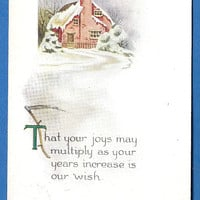 3 Vintage Christmas Postcards, Pink of Perfection early 1900s Great for crafts and scrapbooking