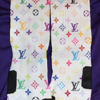 Colorway LVMonogram Custom Nike Elite Socks