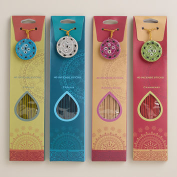 40-PIECE INCENSE WITH LAC BURNERS