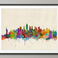 New York City Skyline, Art Print 18x24 inch (295)