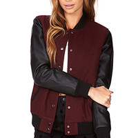 Fresh Colorblocked Varsity Jacket