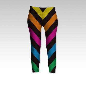 Chevron Black Sherbet by shawntking (Leggings)