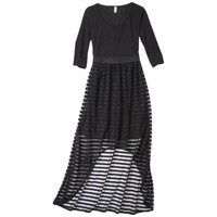 Xhilaration® Juniors High Low Maxi Dress - Black