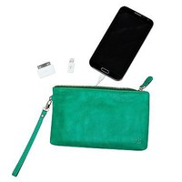 Mighty Purse- Emerald Green- Charging Purse for Smart Phones