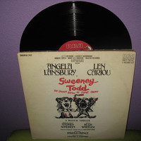 Rare Vinyl Record Sweeney Todd Original Cast Album Double LP 1979 Sondheim Classic