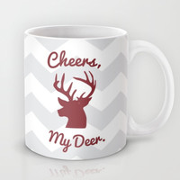 Cheers, My Deer. Mug by Little_Biscuit