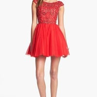 Sherri Hill Embellished Tulle Fit & Flare Dress (Online Exclusive) | Nordstrom