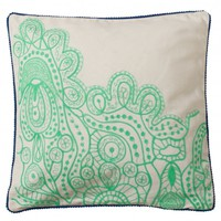 Paisley Green Cushion