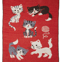 Just Kitten Around Throw Blanket | Mod Retro Vintage Decor Accessories | ModCloth.com