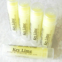 Key Lime Lip Butter - Herbal Lip Balm, Pure Eessential Oil Blend, 100% Natural