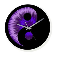 Yin Yang Purple Wall Clock