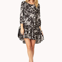 Floral Suite Babydoll Dress