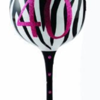Mud Pie 40 Hand Painted Wine Glass