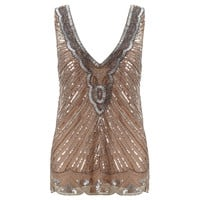 Buy Jigsaw Infinity Bead Top, Antique Pink online at John Lewis