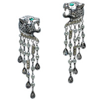 HEMATITE JAGUAR EARRINGS