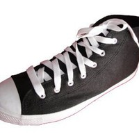 Andres Machado Women's BLACK Canvas Sneakers Big Size Shoes
