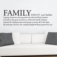 Family Definition Sticker - Moon Wall Stickers
