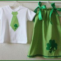 Custom Brother Sister St Patricks day Shamrock by weewhimsycouture