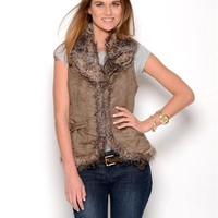 Coffee Shop Faux Suede Vest - Coffee Shop - Modnique.com