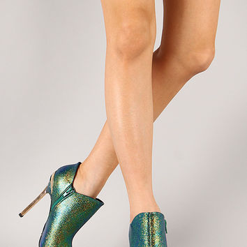 Privileged Mulligan Hologram Pointy Toe Stiletto Bootie