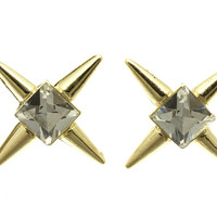 CRYSTAL SPIKE STUDS