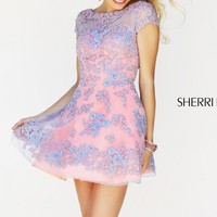 Short Sleeved Dress by Sherri Hill