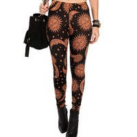 Black/Tan Celestial Leggings