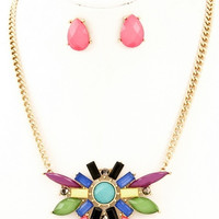 80's Montage Statement Necklace