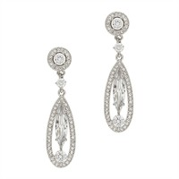 Nadri Open Double Drop Earrings at Von Maur