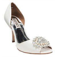 Badgley Mischka Lacie Open Toe Pump EXTENDED SIZES AVAILABLE at Von Maur