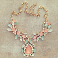 Pree Brulee - Sweet Peonies Necklace