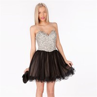 Terani Couture Juniors Beaded Corset Dress with Tulle Skirt at Von Maur