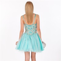 Terani Couture Juniors Beaded Corset Tulle Dress at Von Maur