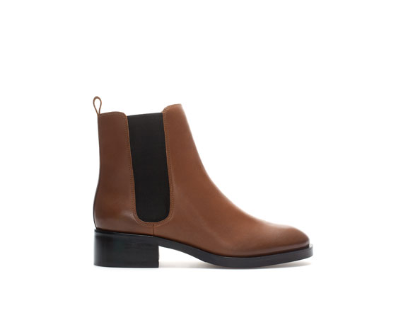 leather chelsea boot shoes from zara