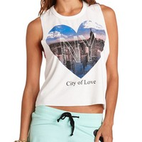 NY HEART GRAPHIC MUSCLE TANK