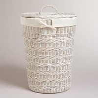 Whitewashed Ashlyn Hamper Basket