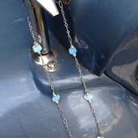 Irridescent and Blue Quartz Necklace