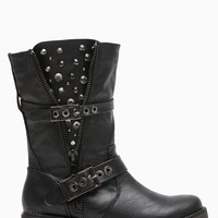 Breckelles Embellished Black Rider Boots @ Cicihot Boots Catalog:women's winter boots,leather thigh high boots,black platform knee high boots,over the knee boots,Go Go boots,cowgirl boots,gladiator boots,womens dress boots,skirt boots.