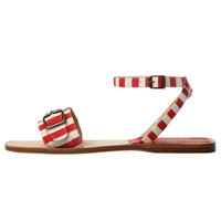 Red and Ecru Esodo Fondo Capri Sandals, Manolo Blahnik. Shop the latest Manolo Blahnik collection at Liberty.co.uk