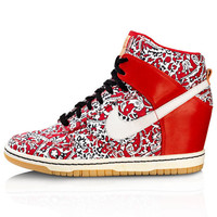 Red Liberty Print Dunk Sky Hi Sport Trainers, Nike x Liberty. Shop the latest Nike collection at Liberty.co.uk