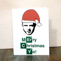 Breaking Bad Jesse Pinkman Merry Christmas Greeting Card