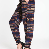 BLUE MOON TRIBAL JOGGERS