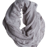 Lurex Ruffle Eternity Scarf