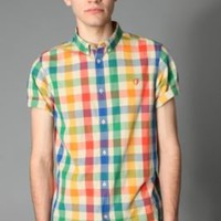 Ben Sherman Short-Sleeved Shoreditch Multicolored Gingham Shirt