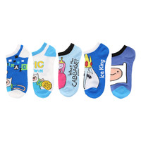 Adventure Time Classic No-Show Socks 5 Pair