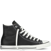 Black Leather High Top Chuck Taylors : Converse Shoes | Converse.com