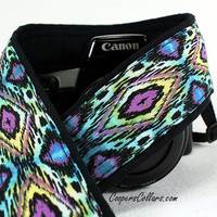 Ikat Tribal dSLR Camera Strap, Batik, Southwestern, Tribal, SLR, 92 c