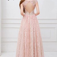 Angela and Alison 41099 Lace Ball Gown Prom Dress