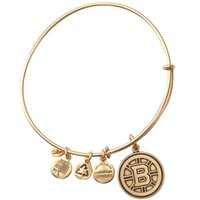 Boston Bruins Alex and Ani Russian Gold Hub Logo Charm Bracelet